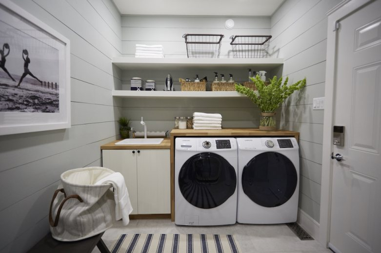 Home to Win Season 2 house tour laundry room