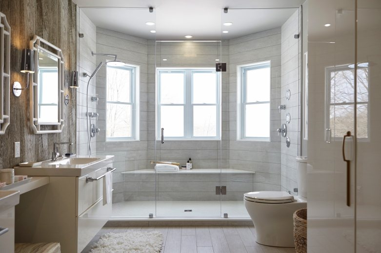 Get the look recreate the spa master bathroom seen on for Bathroom seen photos