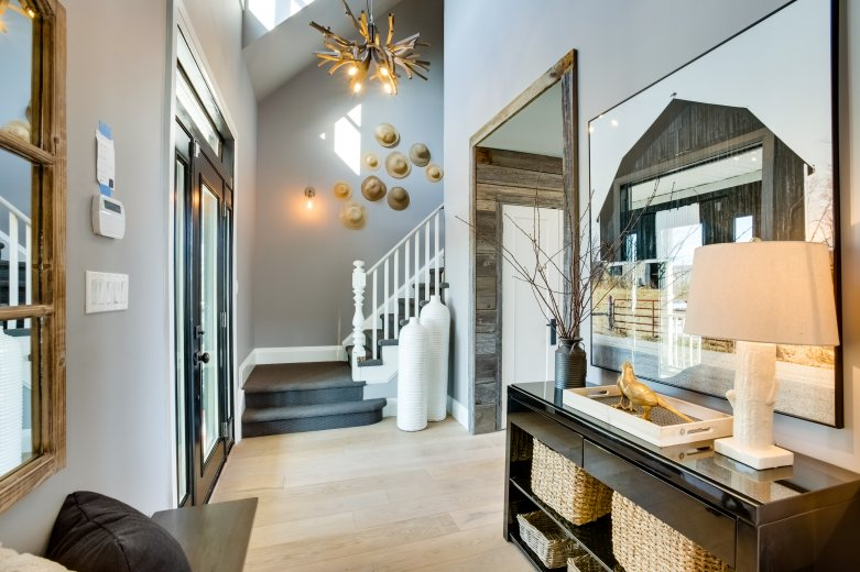 the front foyer behind the design home to win
